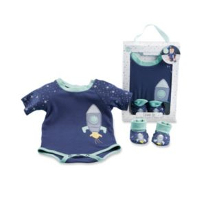 Baby Boy Baby Aspen Cosmo Tot Spaceship Bodysuit & Booties Set
