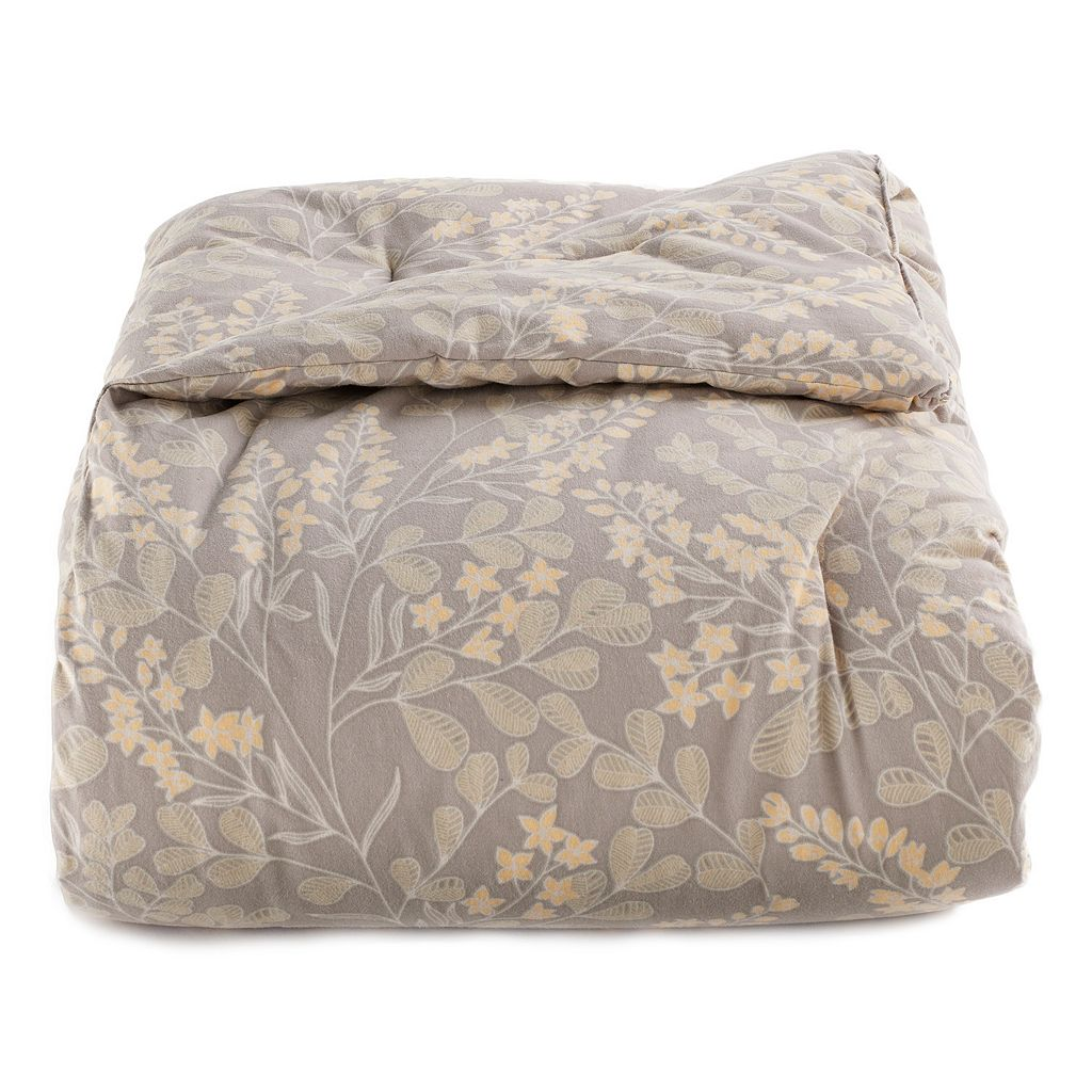 Cuddl Duds 6-Piece Yellow Floral Flannel Comforter Set