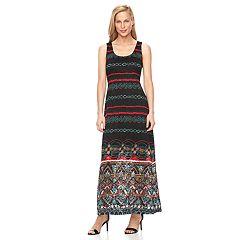 Women's Ronni Nicole Burnout Lace Maxi Dress