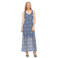 Women's Ronni Nicole Burnout Lace Maxi Dress