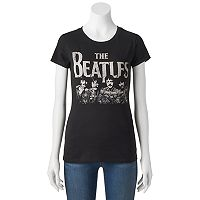 Juniors' The Beatles Short Sleeve Graphic Tee