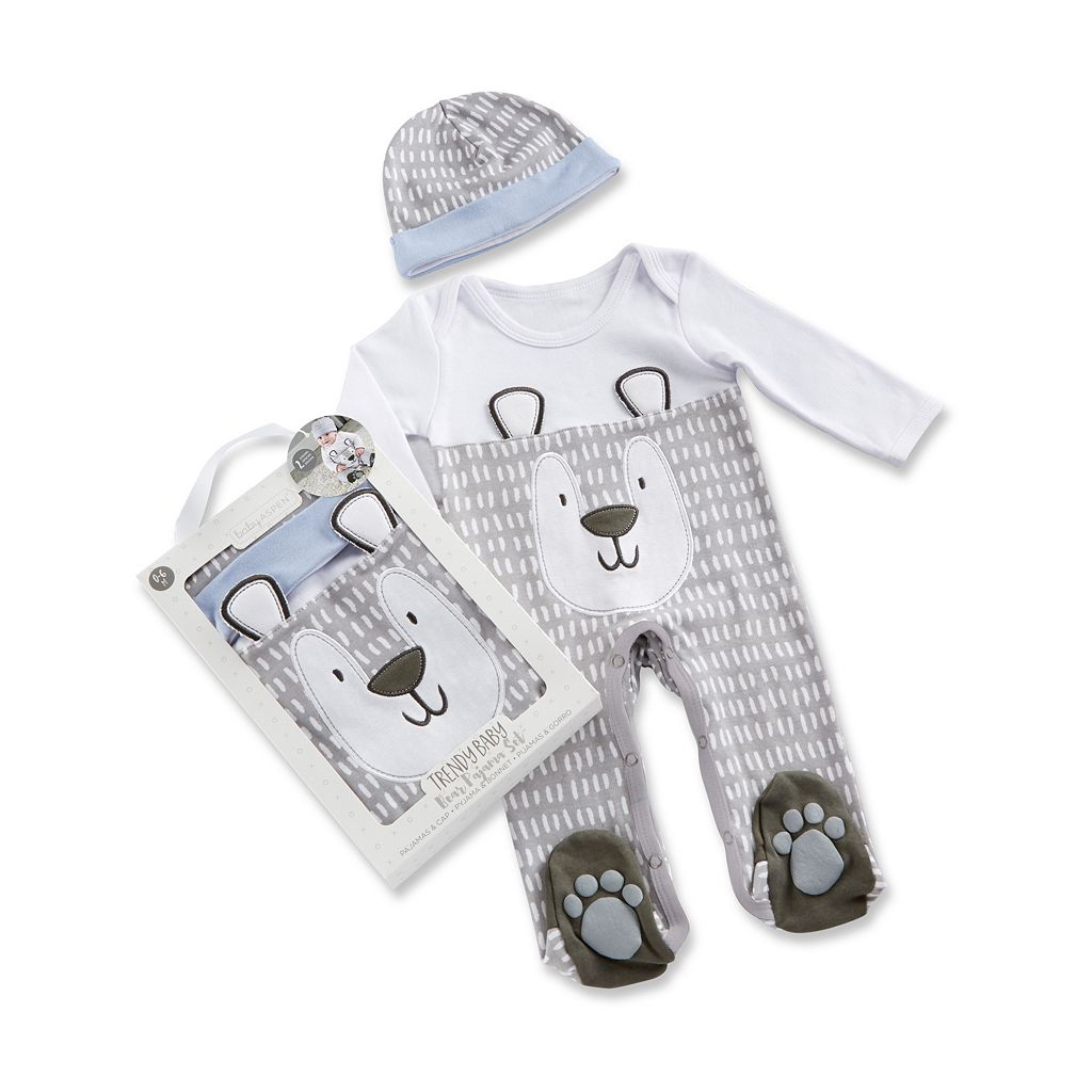 Baby Boy Baby Aspen Trendy Baby Bear 2-Piece Pajama Gift Set