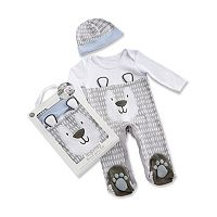 Baby Boy Baby Aspen Trendy Baby Bear 2 pc Pajama Gift Set