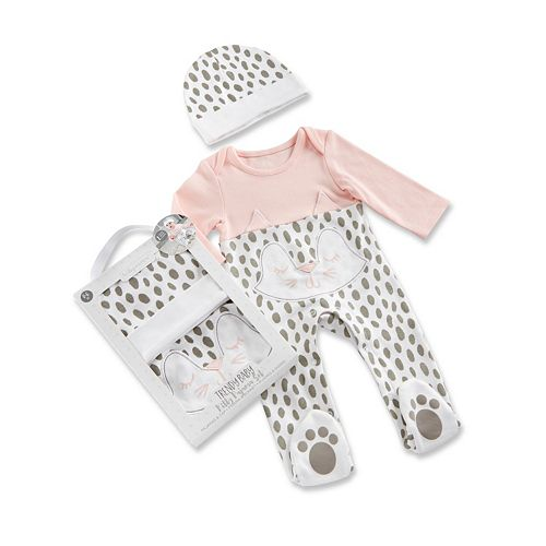 Baby Girl Baby Aspen Trendy Baby Kitty 2-Piece Pajama Gift Set