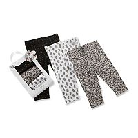 Baby Girl Baby Aspen Trendy Baby 3 pkPrint Leggings