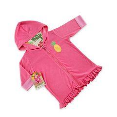 Baby Girl Baby Aspen Pineapple Hooded Terry Cover-Up