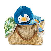 Baby Boy Baby Aspen Tropical Cover-up, Swim Trunks, Hat & Tote Gift Set