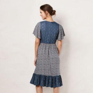 Women's LC Lauren Conrad Mix Print Midi Dress