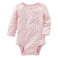 Baby Girl OshKosh B'gosh® Foil Floral Print Bodysuit