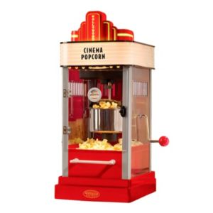 Nostalgia Electrics Hollywood Series Tabletop Popcorn Popper with Personalized Letter Marquis