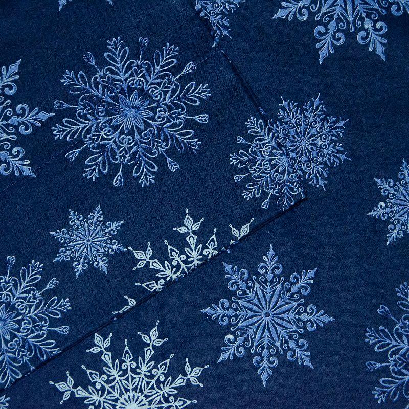 Pointehaven Flannel Sheet Set. Blue. CKING SET
