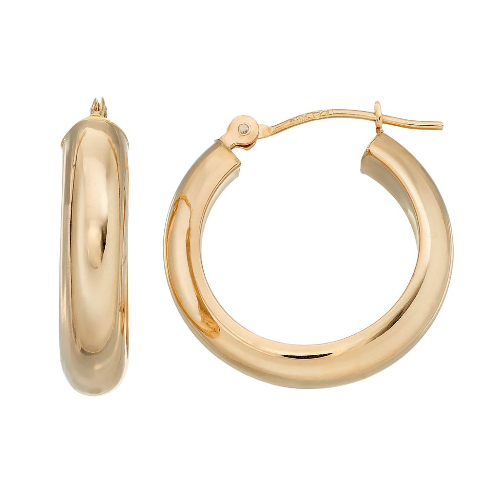 Forever 14K Tube Hoop Earrings