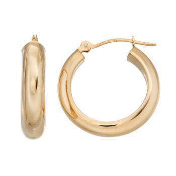 Forever 14K Tube Hoop Earrings