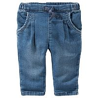 Baby Girl OshKosh B'gosh® Pull-On Denim Pants