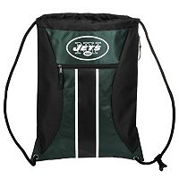 Forever Collectibles New York Jets Striped Zipper Drawstring Backpack