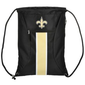 Forever Collectibles New Orleans Saints Striped Zipper Drawstring Backpack