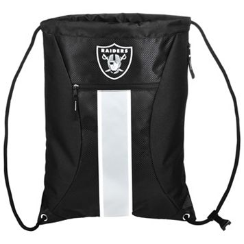 Forever Collectibles Oakland Raiders Striped Zipper Drawstring Backpack