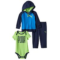 Baby Boy PUMA Graphic Bodysuit, Hoodie & Pants Set