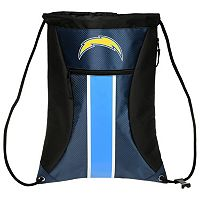 Forever Collectibles San Diego Chargers Striped Zipper Drawstring Backpack