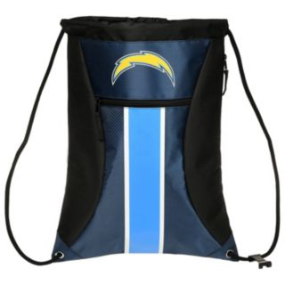 Forever Collectibles San DiegoChargers Striped Zipper Drawstring Backpack