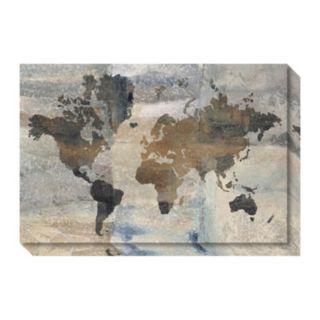 Amanti Art Stone World Map Canvas Wall Art