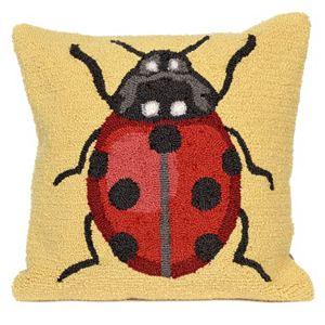 Trans Ocean Imports Liora Manne Ladybug Indoor Outdoor Throw Pillow\n