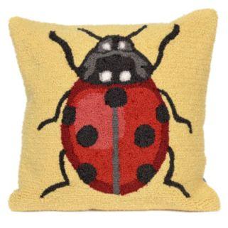 Trans Ocean Imports Liora Manne Ladybug Indoor Outdoor Throw Pillow