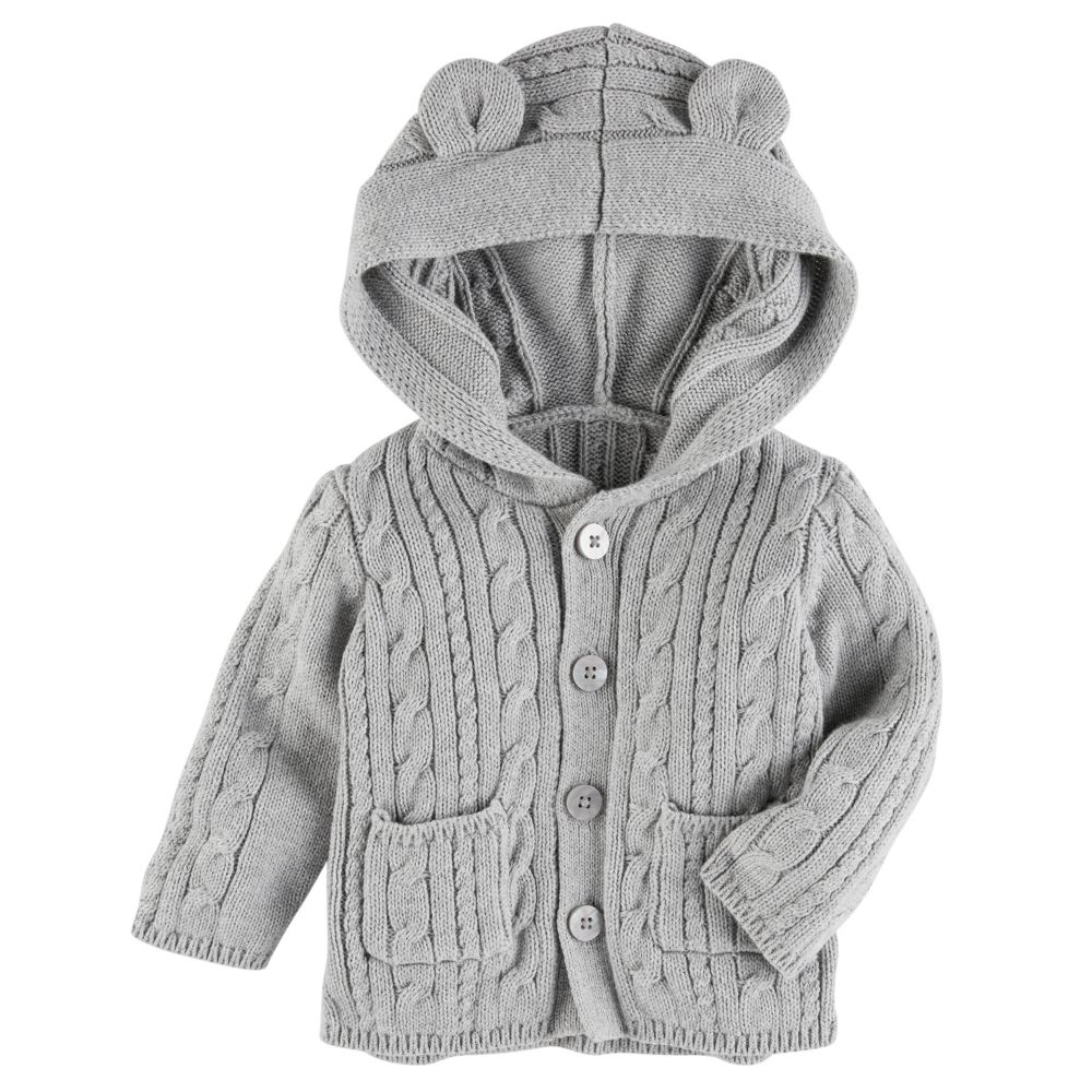 Girl OshKosh B'gosh® Cable-Knit Hooded Cardigan