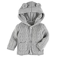 Baby Girl OshKosh B'gosh® Cable-Knit Hooded Cardigan