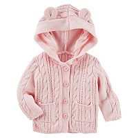 Baby Girl OshKosh B'gosh® Hooded Cardigan