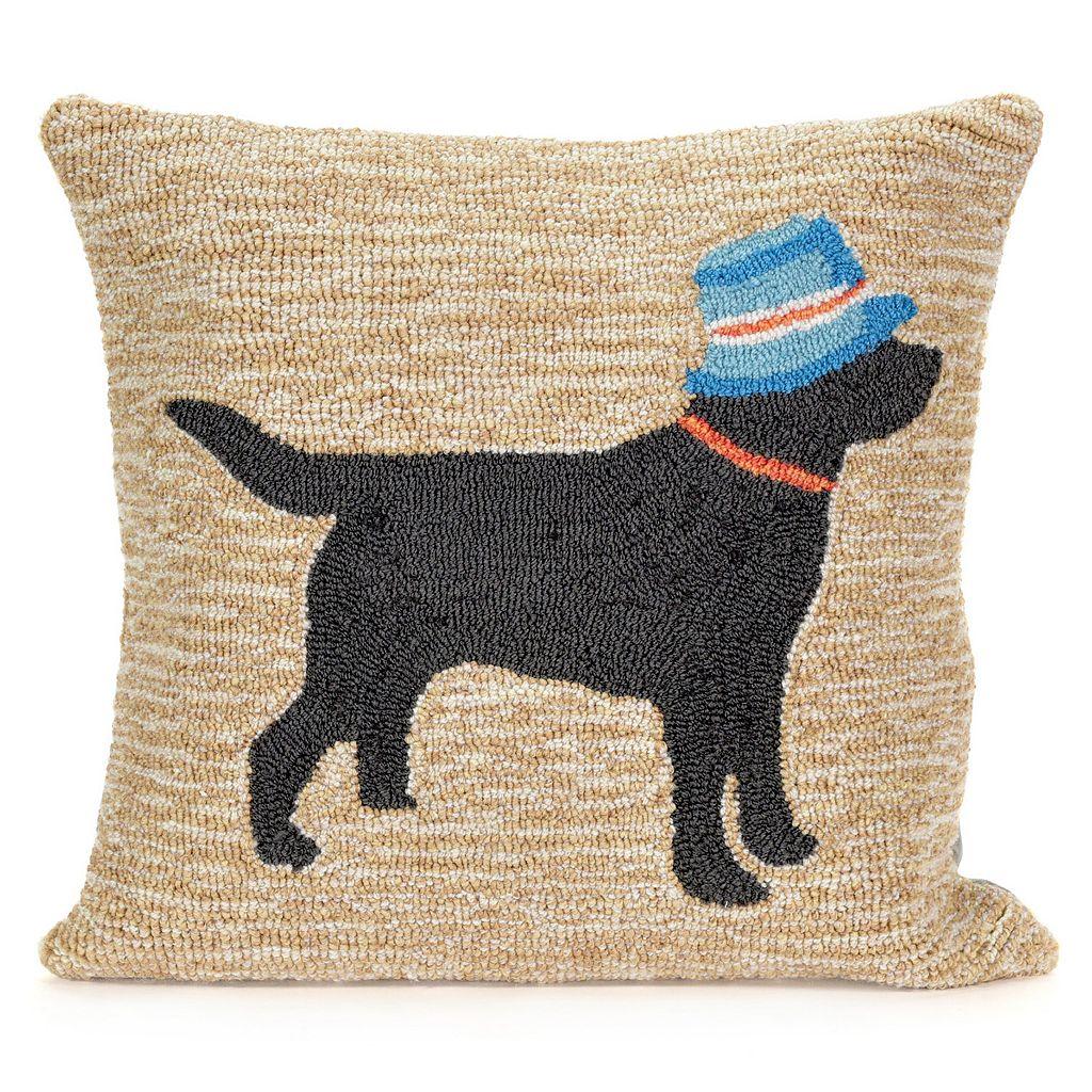 Liora Manne Vacation Dog Neutral Throw Pillow
