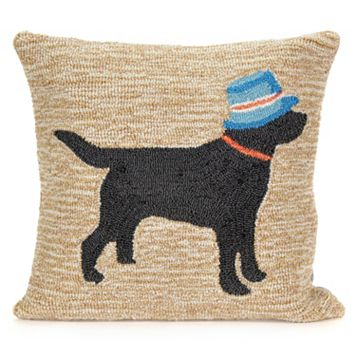 Liora Manne Vacation Dog Neutral Throw Pillow