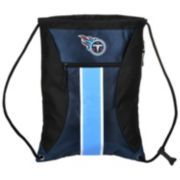 Forever Collectibles Tennessee Titans Striped Zipper Drawstring Backpack