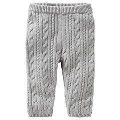 Baby Girl OshKosh B'gosh Gray Cable Knit Sweater Leggings