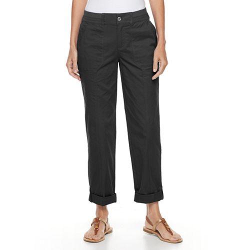 Women's Croft & Barrow® Cuffed Twill Pants