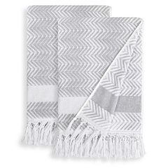 Linum Home Textiles 2-pack Fringe Bath Towel Set