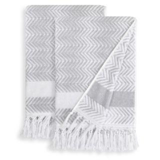 Linum Home Textiles 2-pack Fringe Bath Towel Set