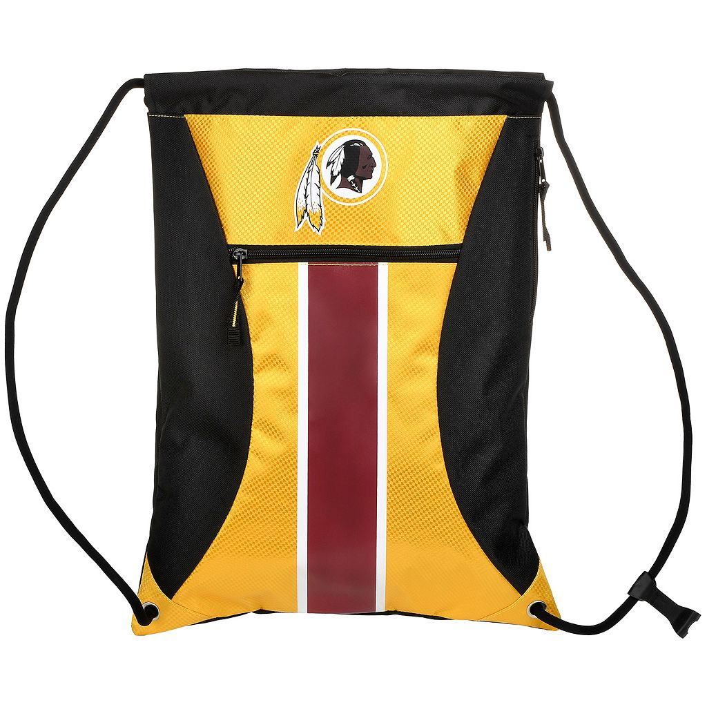 Forever Collectibles Washington Redskins Striped Zipper Drawstring Backpack