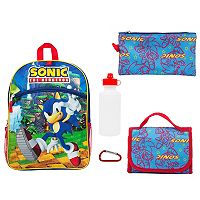 Kids Sonic the Hedgehog 5-pc. Backpack & Lunch Box Set