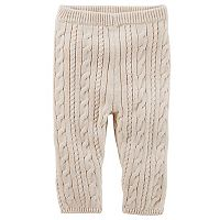 Baby Girl OshKosh B'gosh® Heathered Cable-Knit Sweater Leggings