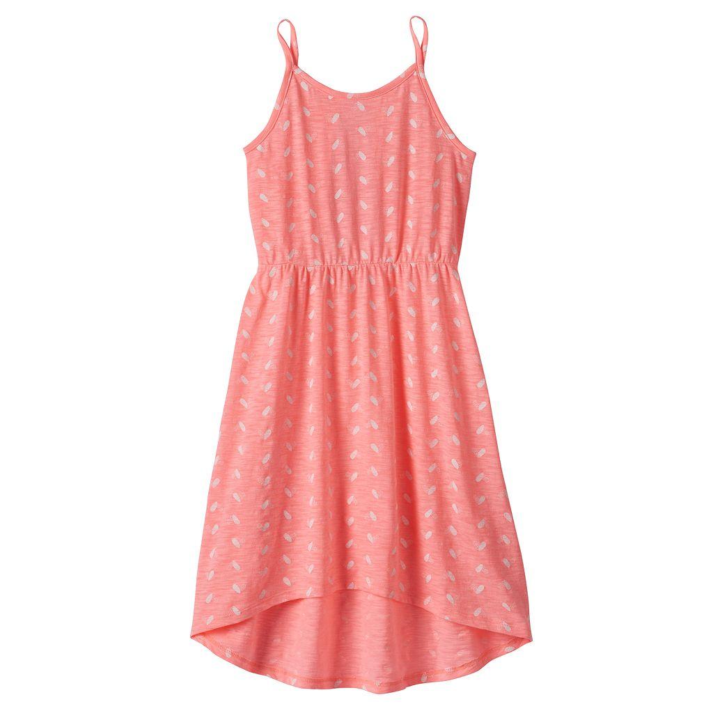 Girls 4-10 Jumping Beans® Lace Cross Back Tank Dress
