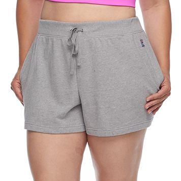 Plus Size FILA SPORT® Relaxed French Terry Shorts