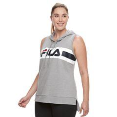 Plus Size FILA SPORT® Sleeveless Hoodie