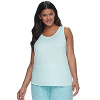 Plus Size Croft & Barrow® Pajamas: Whispery Clouds Knit Tank