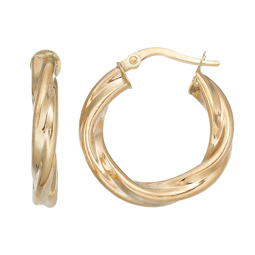 Forever 14K Twist Hoop Earrings