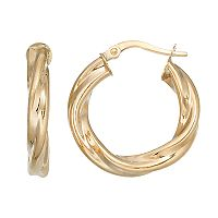 Forever 14K Twist Hoop Earrings