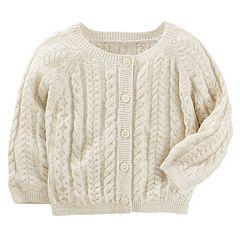 Baby Girl OshKosh B'gosh® Cable Knit Cardigan Sweater
