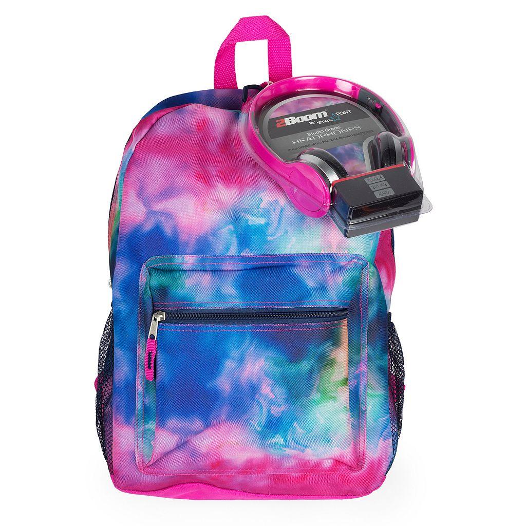 Kids Watercolor Backpack & Headphones Set