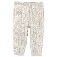 Baby Girl OshKosh B'gosh® White Cable-Knit Sweater Leggings