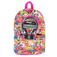 Kids Emoji Backpack & Headphones Set